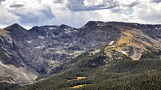 Mount Ida (Colorado) - Image: Rocky Mountains NP Mount Ida en Azure Lake 17 9 2014 14 02 59