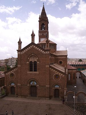 Italian Eritrea - Church of Our Lady of the Rosary in Asmara, built in 1923.
