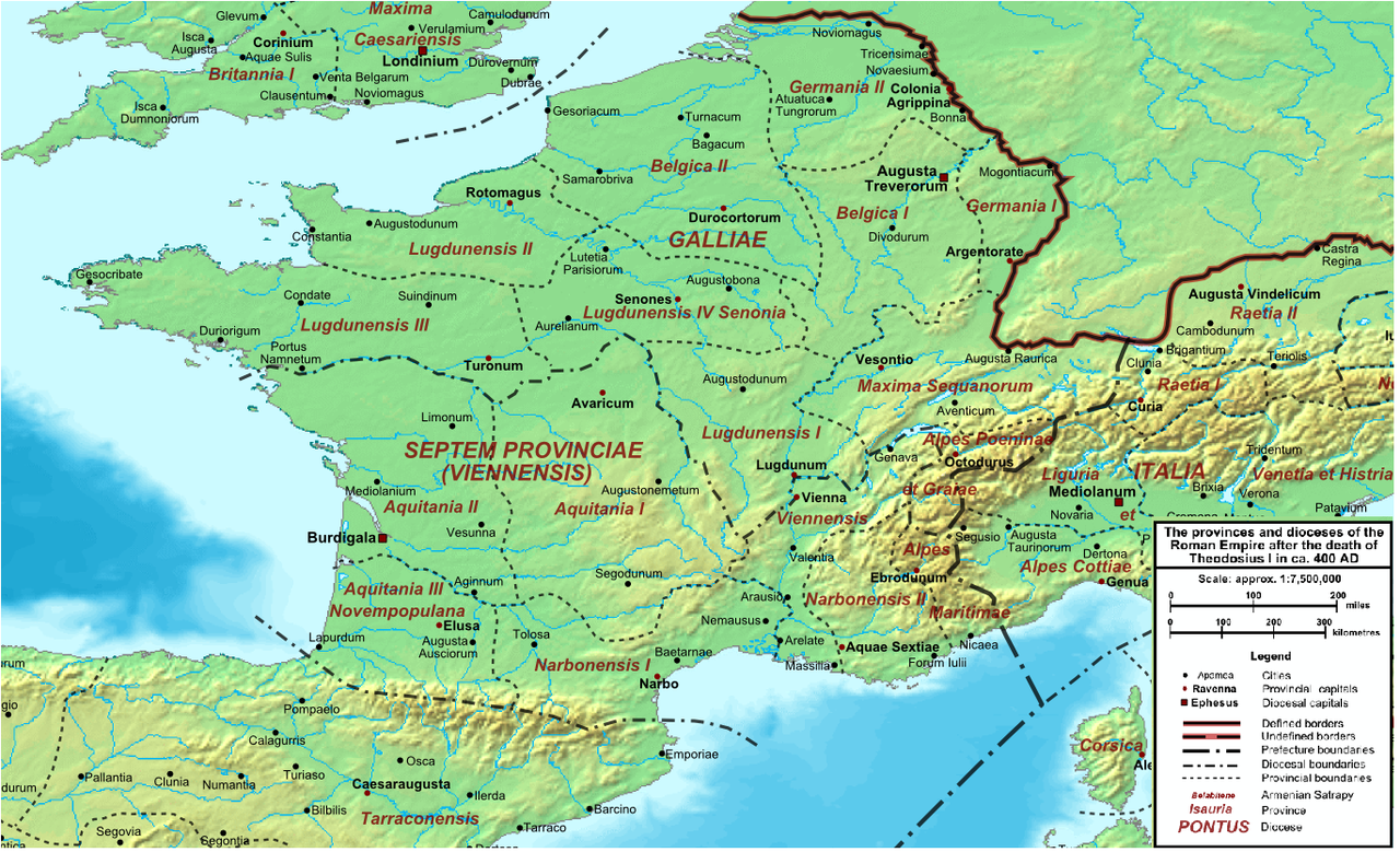 Location of Narbonense / Vienense