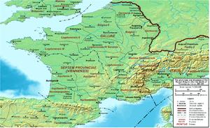 Septem Provinciae - Roman Gaul - AD 400