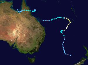 Cyclone Rona–Frank - Image: Rona Frank 1999 track