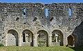 Ronsenac 16 Prieuré muraille&arcades du cloître 2014.jpg