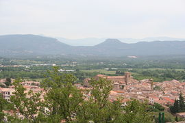 A view of Roquebrune-sur-Argens, from the south-west