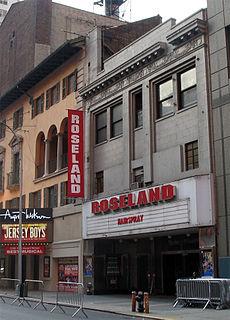 Roseland Ballroom former music venue in New York City, and briefly Philadelphia
