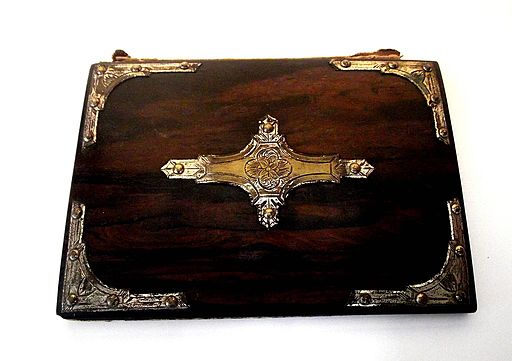Rosewood Decorated Grimoire Book of Shadows Cover