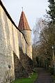 Rothenburg ob der Tauber, Stadtmauer, Schwefelturm, von Süden, 001.jpg