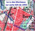 Ru des Morteaux sur carte de 1955.png