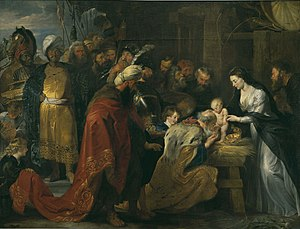 Adoration of the Magi (Rubens, Lyon) - Image: Rubens adoration des mages