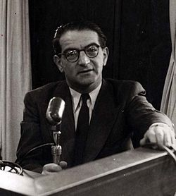 Rudolf Kastner at Kol Yisrael, early 1950s - cropped.jpg