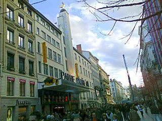 Rue de la République street in the 1st and 2nd arrondissements of Lyon