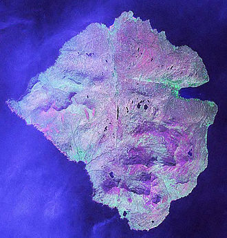 Rùm - Landsat satellite view of Rùm