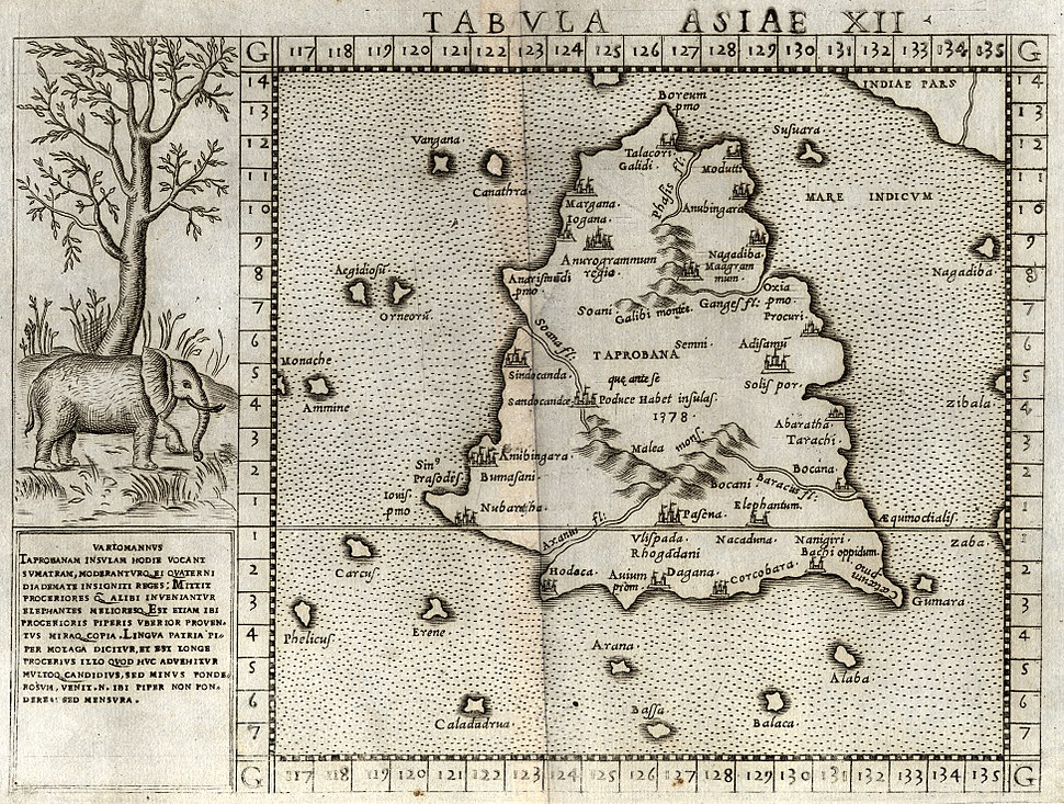 Ruscelli-map-1562 Tamil vanni country
