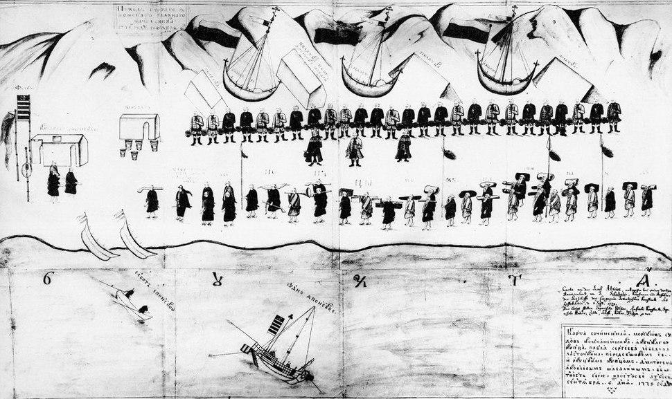 Russians meeting Japanese in Akkeshi 1779