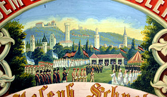 Rutenfest Ravensburg - Rutenfest on an 1873 painting