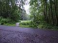 Ruzyně, cesta v údolí Zlodějky, kolmá asfaltka.jpg