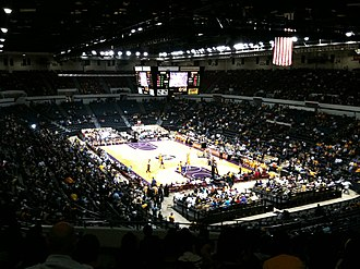 Valley View Casino Center - Lakers exhibition game in October 2010 with arena in basketball configuration