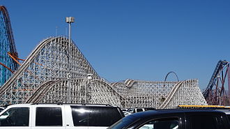 Six Flags Magic Mountain - Colossus was a wooden roller coaster which opened in 1978.