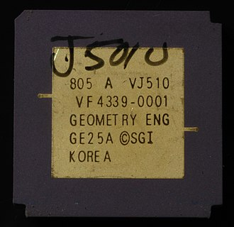 Silicon Graphics - Geometry Engine chip from an IRIS 3120