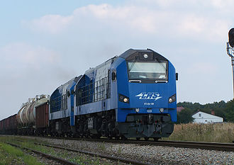 Hrubieszów–Sławków Południowy LHS railway - ST40s on the Broad Gauge Metallurgy Line.