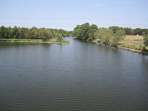 Sabine River (Texas–Louisiana) - The Sabine just south of U.S. Route 80 near Big Sandy, Texas