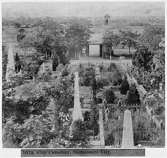 Sacramento Historic City Cemetery - Sacramento City Cemetery in 1866