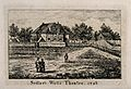 Sadler's Wells Theatre, seen from across a field. Engraving. Wellcome V0013557.jpg