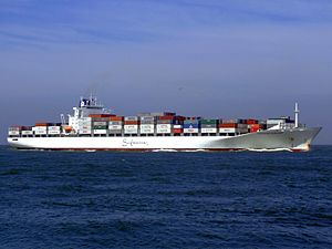 Safmarine Nomazwe p06 approaching Port of Rotterdam, Holland 19-Apr-2007.jpg