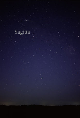 Sagitta - The constellation Sagitta as it can be seen by the naked eye.