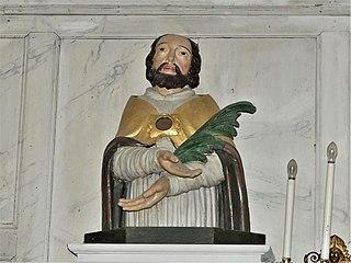 buste-reliquaire : saint martyr (ensemble du tabernacle du chœur) à Saint-Chabrais
