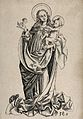 Saint Mary (the Blessed Virgin) with the Christ Child. Engra Wellcome V0033741.jpg