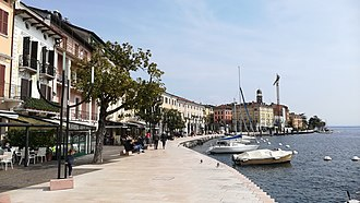 Salò - The city centre on the lakeshore