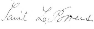 Samuel L. Powers - Image: Samuel Leland Powers Signature