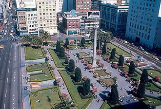 Union Square, San Francisco - The Square in 1968, as seen from the St. Francis Hotel