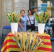 Einer der vielen Rosenstände in Barcelona