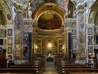Santa Maria della Vittoria, Rome - View of the interior.
