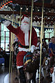 Santa rides the carousel, Silver Beach Carousel, St. Joseph, Michigan.jpg