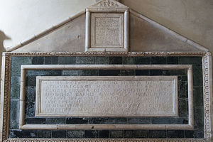 Badia a Settimo - Crypt: the tomb of the countesses Cilla and Gasdia