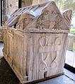 Sarcofago romano del III sec, riciclato per Ruggero I d'Altavilla, da ss. trinità di Mileto (Calabria), 264739, 03.JPG