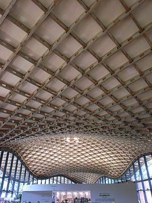 Savill Building - Image: Saville Building roof interior long