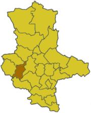 Кведлинбург на карте