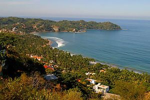 "Nayarit - Sayulita off Nayarit's Pacific coast, a former fishing village now mostly given over to tourism, part of the area now marketed as ""La Riviera Nayarita"" or ""Nuevo Vallarta"""