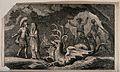 Scene from Virgil's Aeneid; the Cumaean Sibyl leads Aeneas t Wellcome V0042049.jpg