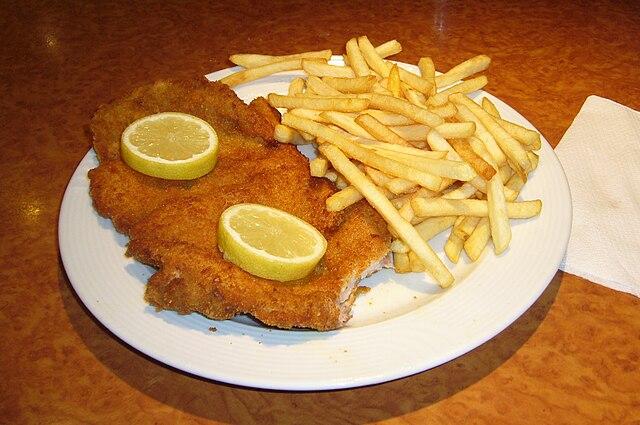 Schnitzel mit Pommes/Fries, Wiki