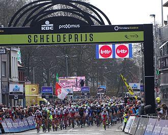 Scheldeprijs - First finish passage of the 2015 Scheldeprijs