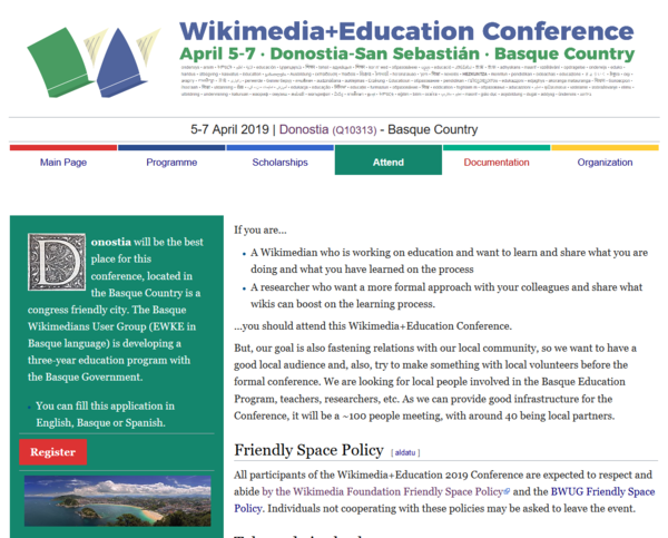Screen capture of Wikimedia+Education main page.png