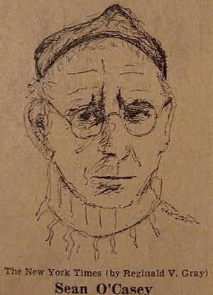 Seán O'Casey - Study of Seán O'Casey by Dublin artist Reginald Gray, for the New York Times (1966)
