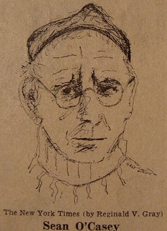 Seán O'Casey - Study of Seán O'Casey by Dublin artist Reginald Gray, for the New York Times (1966)