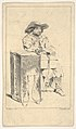 Seated man with box in his lap, he rests his right elbow on a taller box MET DP834132.jpg