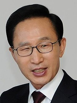 File photo of Lee Myung-bak, 2010. Image: Government of Chile.