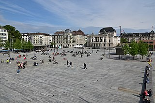 Sechseläutenplatz, Zürich public square in the city of Zürich, Switzerland